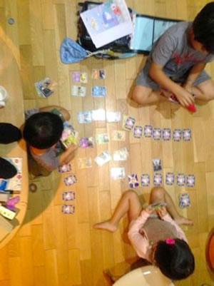 子どもたちのカードゲーム