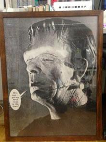 フランケンことボリス・カーロフの額装